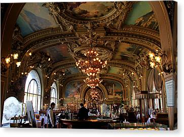 Le Train Bleu Canvas Print by Andrew Fare