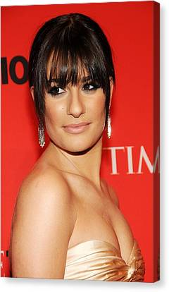 Lea Michele At Arrivals For Time 100 Canvas Print by Everett