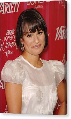 Lea Michele At Arrivals For Varietys Canvas Print by Everett