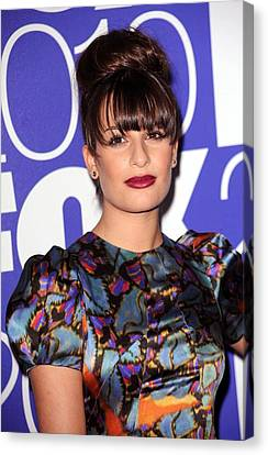 Lea Michele In Attendance For Fox 2010 Canvas Print by Everett