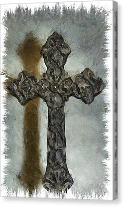 Lead Me To The Cross 1 Canvas Print by Angelina Vick