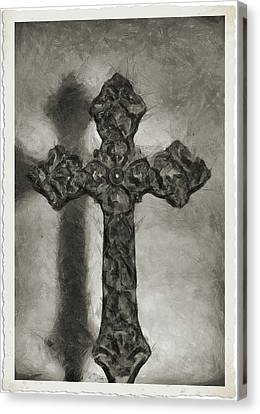 Lead Me To The Cross 4 Canvas Print by Angelina Vick
