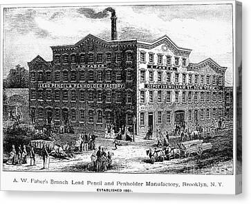 Lead Pencil Factory Canvas Print by Granger