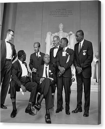 Leaders Of The 1963 March On Washington Canvas Print by Everett
