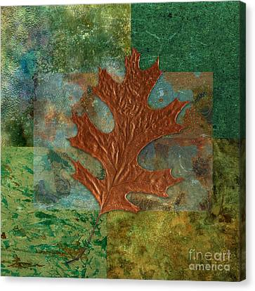 Oak Canvas Print - Leaf Life 01 - Green 01b2 by Variance Collections