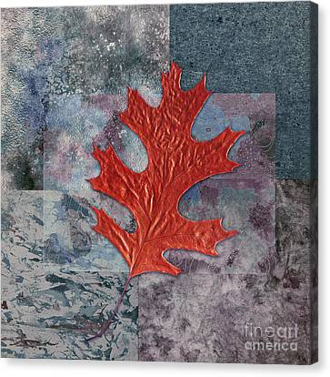 Oak Canvas Print - Leaf Life 01 - T01b by Variance Collections