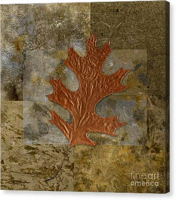 Oak Canvas Print - Leaf Life 01 -brown 01b2 by Variance Collections