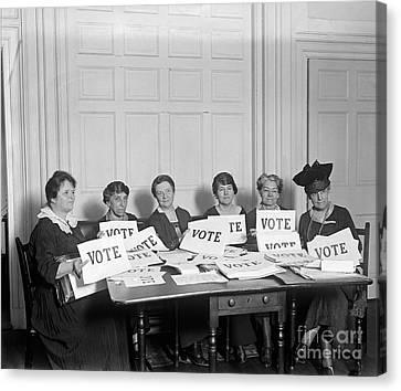 League Of Women Voters Canvas Print by Granger
