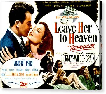 Leave Her To Heaven, Cornel Wilde, Gene Canvas Print by Everett