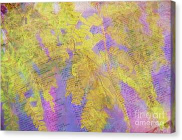 Leaves . . . Trees And Books Canvas Print by Judi Bagwell