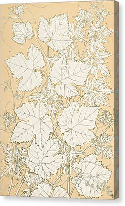 Leaves From Nature Canvas Print by Christopher Dresser