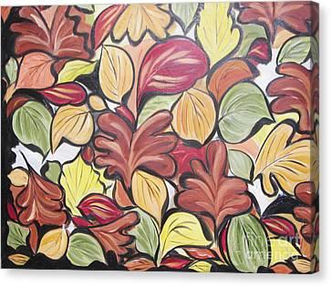 Leaves Of Autumn Canvas Print by Rachel Carmichael