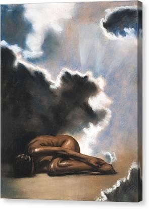 Leaving Eden Eve Canvas Print by L Cooper