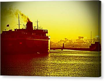 Canvas Print featuring the photograph Leaving Port by Randall  Cogle