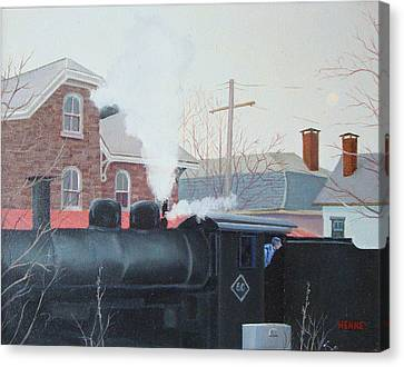 Leaving The Station Canvas Print by Robert Henne