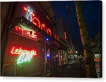Lebowski Bar At Night Canvas Print by Sven Brogren
