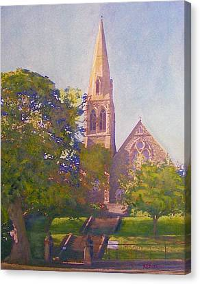 Leckie Memorial  Church  Peebles Scotland Canvas Print by Richard James Digance