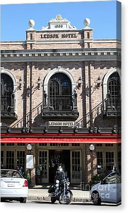 Ledson Hotel - Downtown Sonoma California - 5d19271 Canvas Print by Wingsdomain Art and Photography