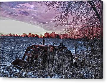 Canvas Print featuring the photograph Left In The Cold by Kimberleigh Ladd