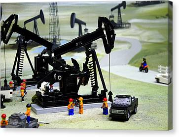 Lego Oil Pumpjacks Canvas Print
