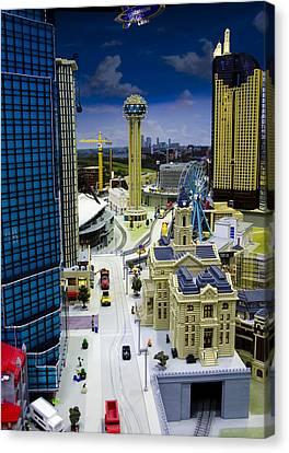 Legoland Dallas Iv Canvas Print by Ricky Barnard