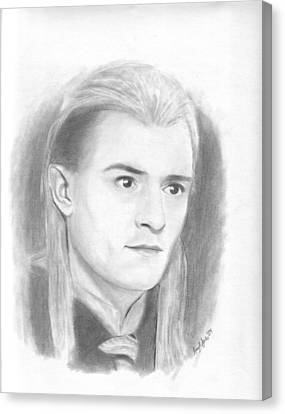 Orlando Bloom Canvas Print - Legolas by Amy Jones