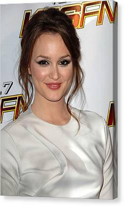 Leighton Meester In Attendance For Kiis Canvas Print by Everett