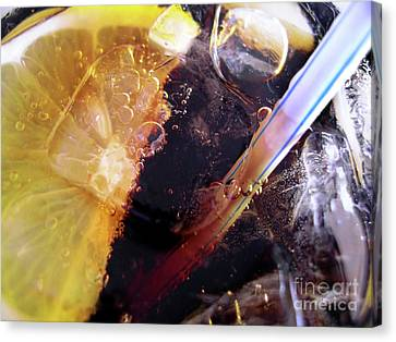 Lemon And Straw Canvas Print by Carlos Caetano