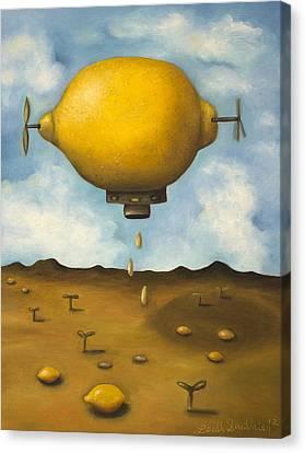 Surreal Landscape Canvas Print - Lemon Drops by Leah Saulnier The Painting Maniac