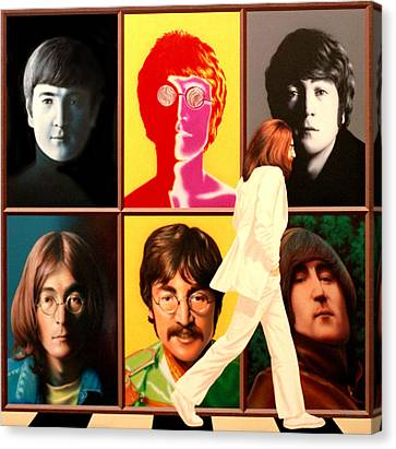 Lennon To The 7th Power Canvas Print by Ross Edwards
