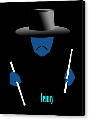 Canvas Print - Lenny Blue by Victor Bailey