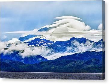 Lenticular And The Chugach Mountains Canvas Print by Rick Berk