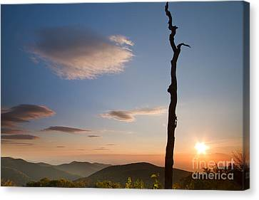 Lenticular Clouds Over Shenandoah National Park Canvas Print by Dustin K Ryan