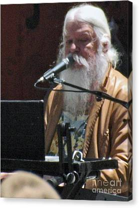 Canvas Print featuring the photograph Leon Russell by Gary Brandes