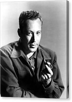 Leon Uris, Circa Mid-1950s Canvas Print by Everett