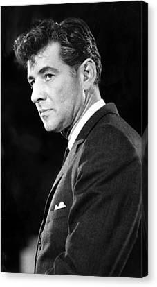 Leonard Bernstein 1918-1990 American Canvas Print by Everett