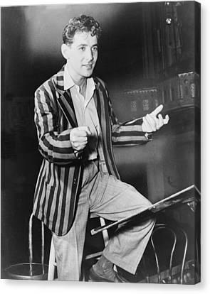 Leonard Bernstein 1918-1990, Young Canvas Print