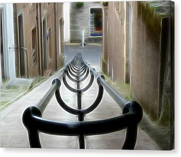 Canvas Print featuring the photograph Lerwick Lanes by Lynn Bolt
