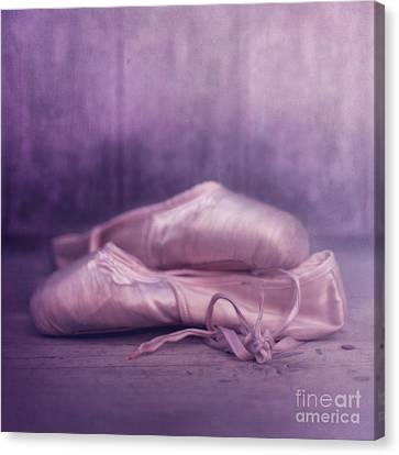 Les Chaussures De La Danseue Canvas Print by Priska Wettstein