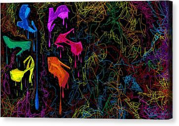 Les Couleur Des Chaussures Numero 2 Canvas Print by Kenal Louis
