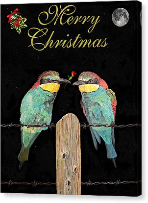 Lesvos Christmas Birds Canvas Print by Eric Kempson