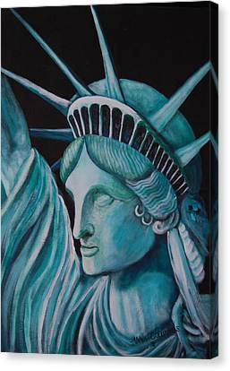 Let Freedom Ring Canvas Print by Janna Columbus