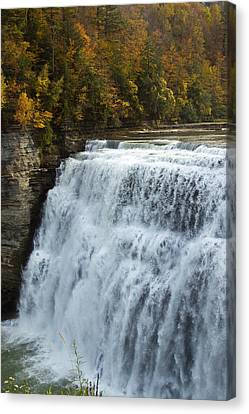 Canvas Print featuring the photograph Letchworth Middle Falls by Darleen Stry