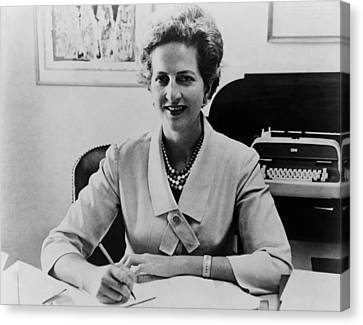 Letitia Baldrige, First Lady Jacqueline Canvas Print by Everett