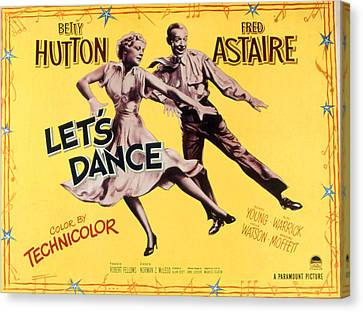 Lets Dance, Betty Hutton, Fred Astaire Canvas Print by Everett
