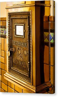 Canvas Print featuring the photograph Letter Box by Lawrence Burry