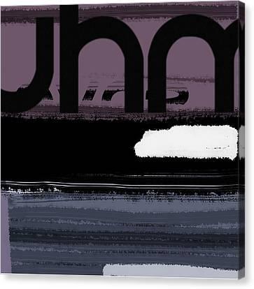 Letter Purple Canvas Print by Naxart Studio