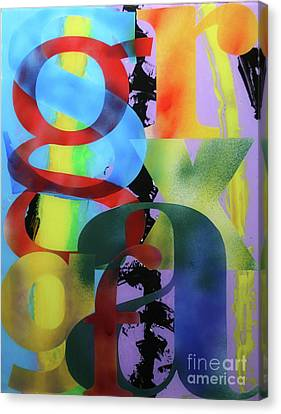Canvas Print - Letterforms 1 by Mordecai Colodner
