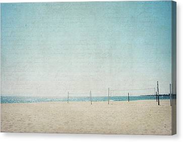 Canvas Print featuring the photograph Letters From The Beach by Lisa Parrish