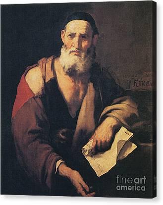 Leucippus, Ancient Greek Philosopher Canvas Print